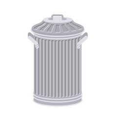 trash can isolated wheelie bin on white vector image