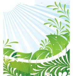 Green rural meadow vector image