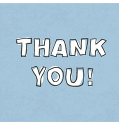 thank you word vector image vector image