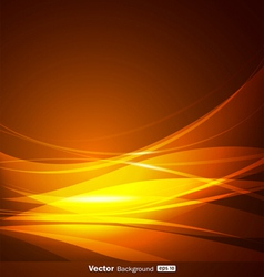 Abstract gold wave background vector image vector image