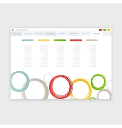 browser design with responsive website vector image vector image