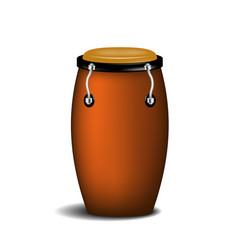 Conga percussion music instrument vector