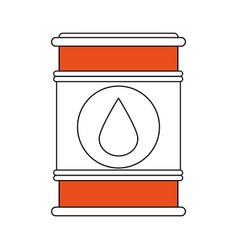 sketch color silhouette barrel oil with petroleum vector image