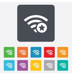 Wifi star sign Favorite Wi-fi symbol Wireless vector image vector image