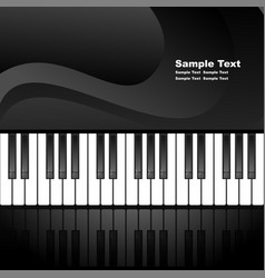 Abstract background with piano keys vector image vector image