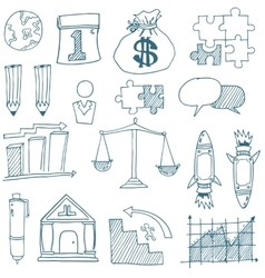 Doodle of business art vector image vector image