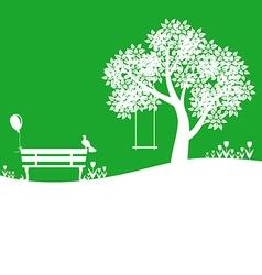 outdoor green vector image