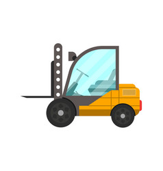 storage forklift truck isolated icon vector image vector image
