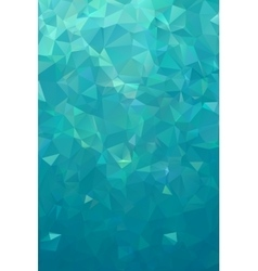 Turquoise polygonal background Nothern lights vector image