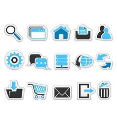 Web internet button icons set vector