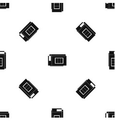 Inkjet printer cartridge pattern seamless black vector