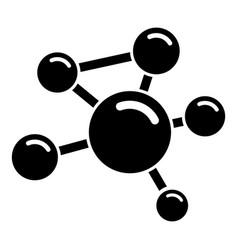 molecule molecular icon simple black style vector image vector image