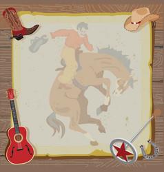 western rodeo cowboy vector image