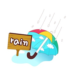 A view of umbrella vector image vector image