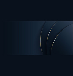 abstract blue circle with gold curve layer vector image