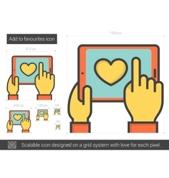 Add to favourites line icon vector