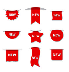 advertising new labels vector image