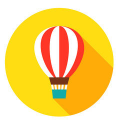 air balloon circle icon vector image