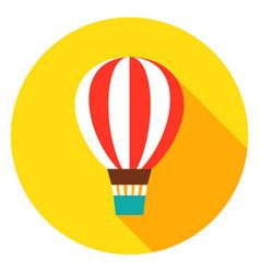 Air balloon circle icon vector
