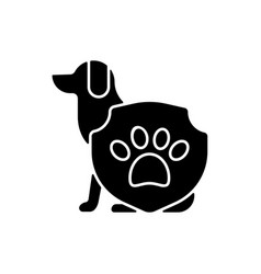 animal protection black glyph icon vector image