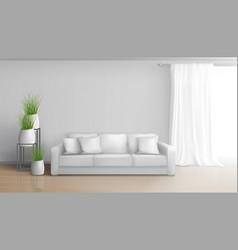 Apartment living room realistic interior vector