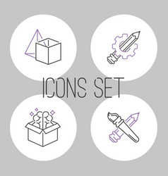 art icons set design linear vector image