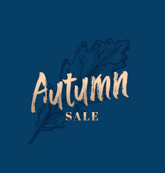 Autumn sale abstract retro label sign or vector