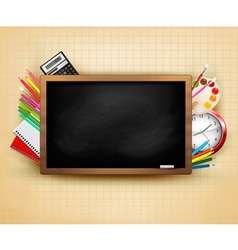 Back to school background with blackboard vector