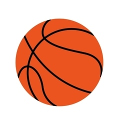 Basketball balloon ball icon vector