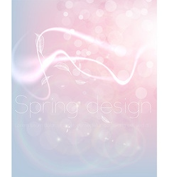 Bright White Background with Curved Lines vector image vector image