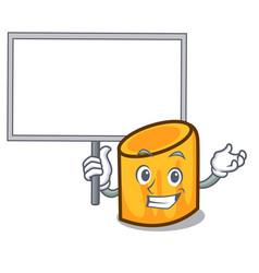 Bring board rigatoni character cartoon style vector