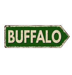 buffalo vintage rusty metal sign vector image