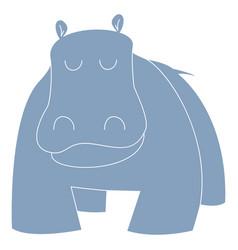 Cartoon hippo or hippopotamus vector
