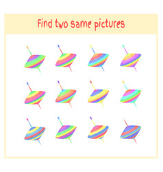 cartoon of finding two exactly vector image