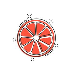 cartoon orange fruit icon in comic style orange vector image