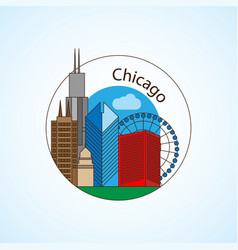 chicago us vector image