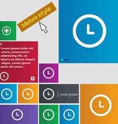 Clock icon sign buttons Modern interface website vector