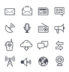 Communication Icon Bold Stroke vector
