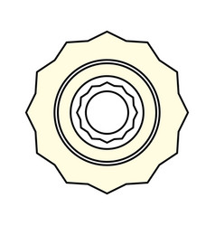 computer gear symbol vector image