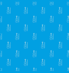 contrabass pattern seamless blue vector image