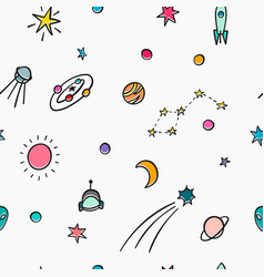 cosmos astronomy simple seamless pattern vector image