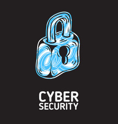 cyber security safety conceptual poster design vector image