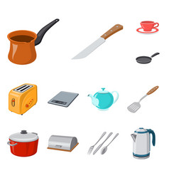 design of kitchen and cook symbol set of vector image