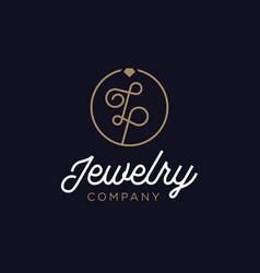 Diamond jewelry initial lp logo vector