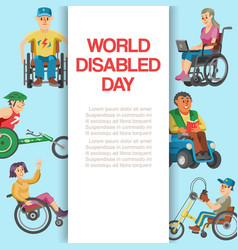 disability flat world day vector image