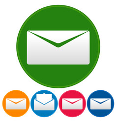 email or envelope icons open closed mail symbol vector image
