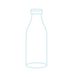 Empty glass bottle isolated transparent flask on vector
