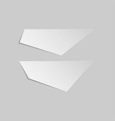 empty paper pieces banner templates set vector image