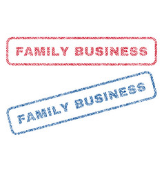 Family business textile stamps vector