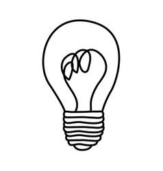 Figure sticker paint bulb icon vector